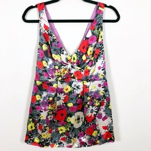 NWOT Rebecca Taylor 100% Silk Floral Top 10
